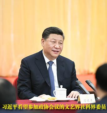 习近平看望参加政协会议的文化艺术界、社会科学界委员