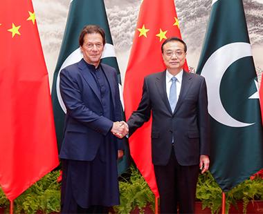 李克强同巴基斯坦总理伊姆兰·汗举行会谈